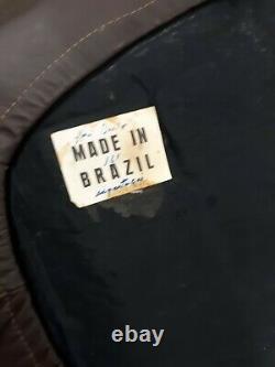 Percival Lafer, Brésil, Canapé En Cuir, Excellent État D'origine