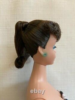 Poupée Barbie Vintage À Queue De Cheval Tôt #6 Ou Tard #5 Brunette Excellente Condition