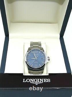 Pre-owned Longines Conquest Watch Blue Face Excellent État Boîte D'origine