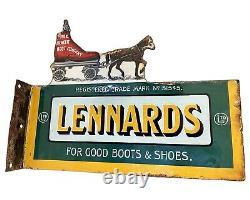 Rare Lennards Bottes Et Chaussures Enamel Connexion Excellent État