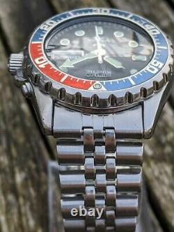 Réduit Seiko 5m43-0a40 Kinetic Skj003 Pepsi Excellente Condition Originale