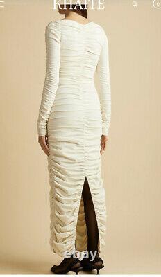 Robe Khaite Lana Viscose -ivory -xs/s. Excellent État Original $2800