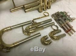 Roi Double Bore Symphony Ton Argent Trompette, Excellent État D'origine