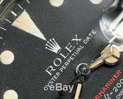 Rolex Submariner 1680 Rouge Rouge Mk IV Circa 1973 Ss Condition Original Excellent