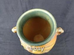 Roseville Grand Vase Pinécone Brun 806-12 Excellent Moule Et Condition
