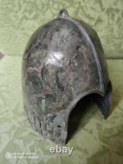 Scythes Casque De Bronze 5ème Siècle Avant Jc Région Cubane Excellent État Original57