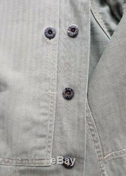 Seconde Guerre Mondiale Ww2 Originale Usmc P44 Hbt Shirt 38r Excellent État