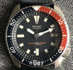 Seiko 7002 7001 Au Début Diver De Juin 1991 Par Excellent État D'origine