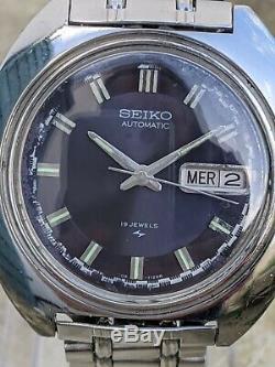 Seiko 7006-7030 Rallye Rare Violet Cadran Excellent État D'origine
