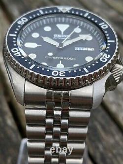 Seiko 7s26-0020 Skx007 Plongeur Avec Patina Excellent État Tout-original