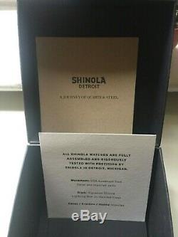 Shinola Brakeman 3hd 40mm. Condition Excellente. Avec Boite Et Papiers D'origine