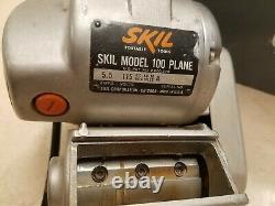Skil 100 Planer 5.5 Amp Excellent État Avec Boîtier Original Et Manuel