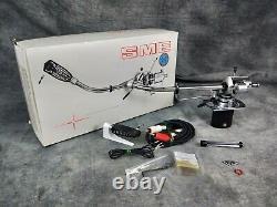 Sme 3010-r Tone Arm & Sme S2 Headshell Avec L'original En Excellent État