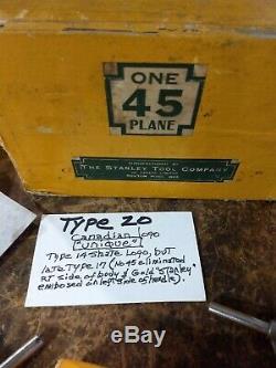 Stanley No. 45 Combinaison Avion -complete Titre Original Box- Excellent État