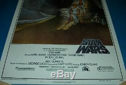 Star Wars Style A Deuxième Impression Affiche Du Film Laminé Excellent Etat