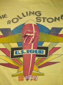 T-shirt Vintage Rolling Stones 1975 U. S. Tour. Excellent État D'origine