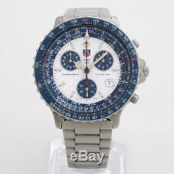 Tag Heuer Chronograph 530.806k Pilote. Box & Documents. Condition Excellente