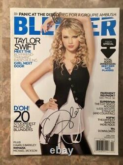 Taylor Swift Autographed Signed Blender Magazine Avril 2008 Excellent État