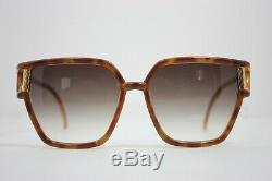 Ted Lapidus Lunettes De Soleil Vintage Excellent État France Brown Or 1970 Tl 12