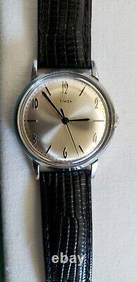 Timex Marlin Réédité, Excellent État, Cadran 34mm Avec Boîte Originale Et Bande