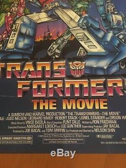 Transformateurs Le Film Original Une Feuille Affiche Du Film 1986 Excellent État
