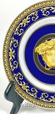 Versace Rosenthal Medusa Blue Plate Ronde Pain Condition Excellente