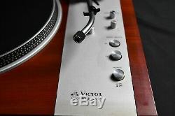 Victor Jl-b41 Direct Drive Turntable En Excellent État Avec Boîte Originale