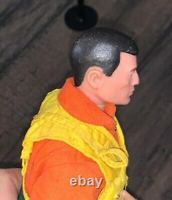 Vintage 12 Gi Joe Action Fighter Pilot Figure Cheveux Noirs Excellent État