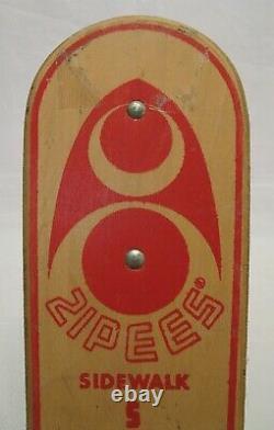 Vintage 1960 Zipees Sidewalk Surfboard Original Excellent Condition Skateboard