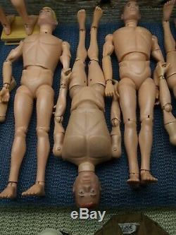 Vintage 1964 Originale Hasbro Gi Joe Figurine Lot De (9) Excellent Etat