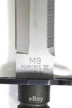 Vintage 1990 Buck 188 Phrobis III Baïonnette M9 Avec Gaine Excellent État (rcr)