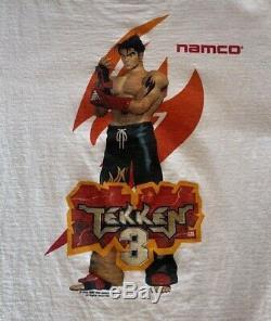 Vintage 90 Tekken 3 Promo Shirt- Excellent État! Jamais Porté