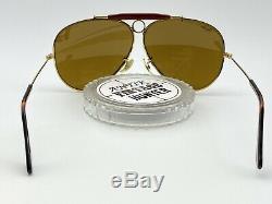 Vintage B & L Ray Ban Aviator B15 Shooter Lunettes De Soleil 62mm Excellent Condition Rare