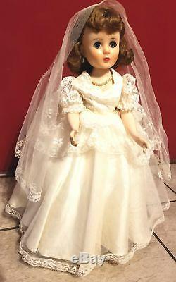 Vintage Caractère Américain 19 Bride Doll, État D'origine Et Excellent