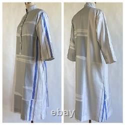Vintage Catherine Ogust Robe Pour Toujours Neutre Gris, Beige Excellent État S