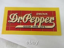 Vintage Dr Pepper Soda Publicité Tin Sign Excellent État 211-y