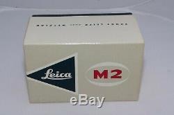 Vintage Leica M2 Caméra Boîte Originale Seulement. Condition Excellente. Difficile À Trouver