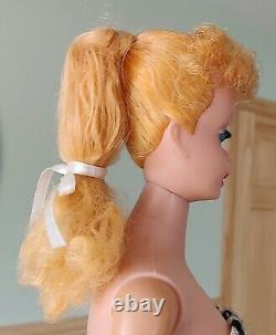 Vintage Mattel Barbie Blonde 1961 #5 Ponytail Doll #850 Excellent Condition