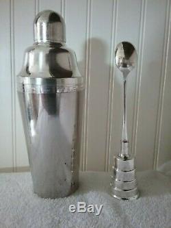 Vintage Napier Coquetelier & Jigger Cuillère Mécanique En Excellent État