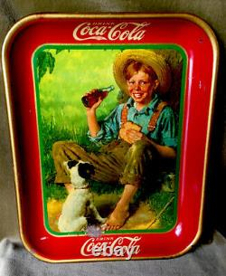 Vintage, Original, 1931 Plateau De Service Coca-cola, Excellent État Brillant