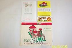 Vintage, Original 1959 Bayko Construction Jeu N ° 0 Coffret, En Excellent Etat