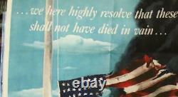 Vintage Original Décembre 7 Pearl Harbor Affiche 22x30 Pouces Excellent État