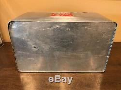 Vintage Original Métal 7-up Cooler Avec Plateau En Aluminium Excellent Etat