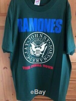 Vintage Original Ramones Tour T-shirt Tour 1996. Punk Rock. Condition Excellente