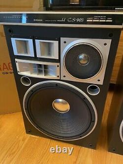 Vintage Pioneer Cs-903 Speaker Pair Excellent État Boîte D'origine Free Ship