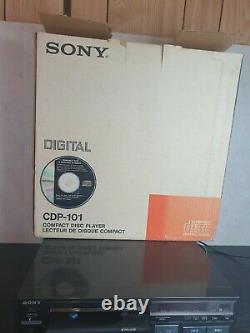 Vintage Sony Cdp 101 Lecteur CD Excellent État Boîte D'origine