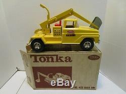 Vintage Tonka N ° 422 Rétrocaveuse Withbox Excellent Etat Original