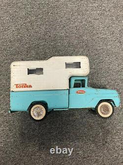 Vintage Turquoise Tonka De 1960 Camper Camion Excellent État D'origine