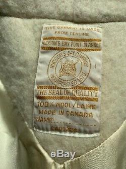 Vintage Véritable Hudson Bay Laine Manteau Excellent État