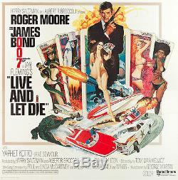 Vivre Et Laisser Die Grand Originale 1973 Affiche 6 Feuilles James Bond Excellente Forme